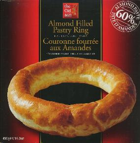 The Old Mill Banket Ring--Almond Filled Pastry Ring 480g