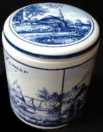 Wafer Box -- Four Seasons -- Delft Blue