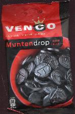 Venco Muntendrop Hard Zoet -- Coin Shaped Licorice 5.8oz